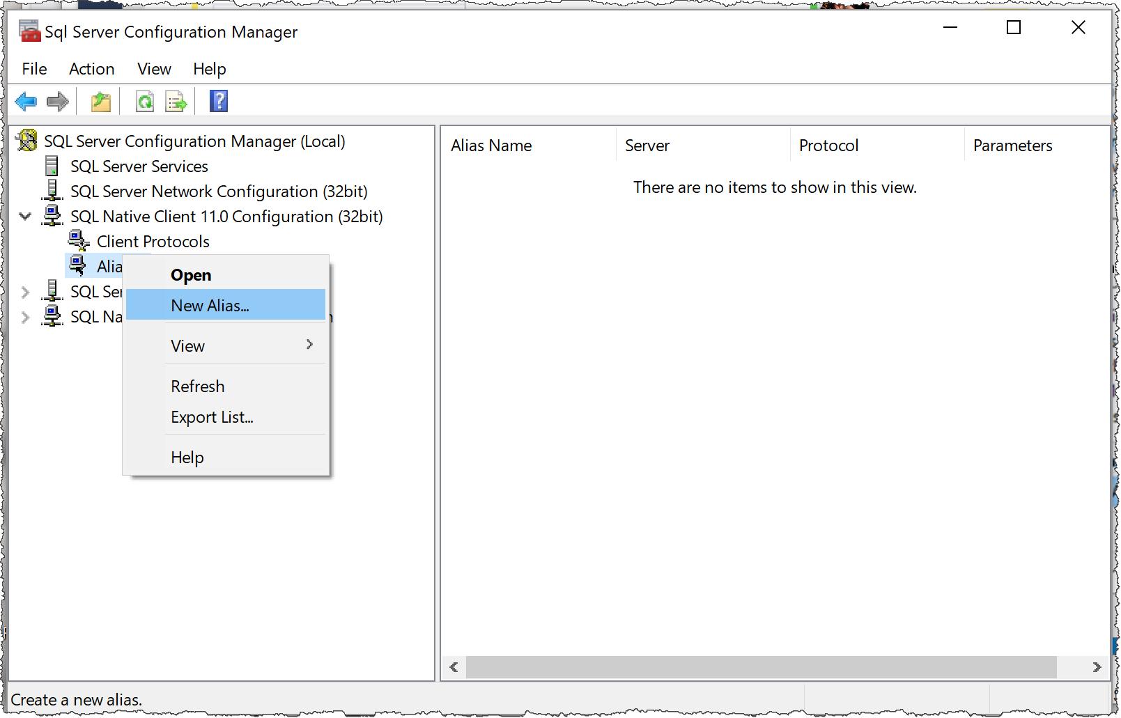 SQL Server Alias